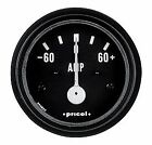 "Gauge 2"" 52mm Pricol Meter Ammeter Black/White Face Electric 60 Amp Current"