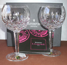 Waterford LISMORE CLASSIC BALLOON Wine SET/2 Glasses 60th Anniversary 156516 New