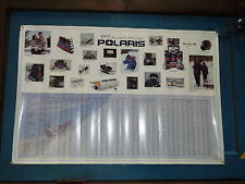 1997 Polaris Snowmobile Accessory Fit Chart Poster 3'x2' New