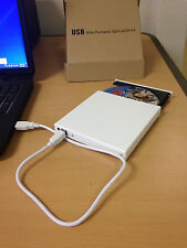 NEW External White USB Slim 8x DVDRW DL DVD CD RW Burner Writer Drive All PC EM