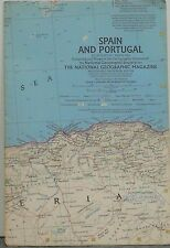 Vintage 1965 National Geographic Map of Spain and Portugal (c)