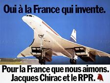 ADVERT RALLY PARTY FRANCE JACQUES CHIRAC CONCORDE ART POSTER PRINT LV7011
