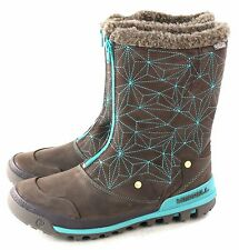 Merrell Womens Silversun Zip Waterproof Snow Winter Boot Bracken Size 9.5