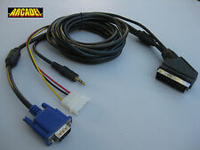VGA TO SCART RGB 1.6 METERS + SOUND JACK (EUROCONECTOR) for JAMMA ARCADE system