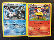 POKEMON XY EVOLUTIONS BLACK KYUREM XY160 & BRAIXEN XY161 PROMO CARDS