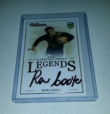 NO 10 2015 ESP NRL TRADERS SOUTH SYDNEY RON COOTE LEGENDS SIGNATURE CASE CARD