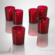 Set of 72 Red Glass Votive Candle Holders