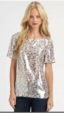 NWT $228 MARC JACOBS SILK METALLIC EXETER PRINT LAME TOP