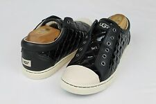 UGG JEMMA QUILTED PATENT LEATHER BLACK FASHION SNEAKER TENNIS SHOE SIZE 6 US NIB