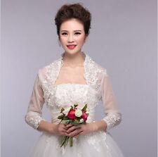 Ivory Lace Bolero Bridal Jacket with Sleeves for Wedding Dress