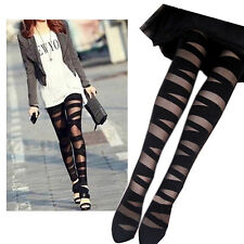 Women Attractive Pretty Sexy Pantyhose Lady Black Ripped Tights Mock Stocking