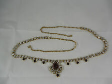 Traditional Kundan Gold Plated Saree Challa/Belly Hips Chain Waist Belt