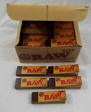 5 Pkgs RAW Brand Natural Cigarette Filter Rolling Paper 50 Per Pack 250 Tips