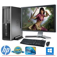 "HP Desktop Computer PC Core 2 Duo Windows 10 4GB 250GB HD 19"" LCD Monitor WIFI"