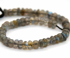 HALF STRAND SPARKLY LABRADORITE SMOOTH RONDELLE BEADS, 5 MM