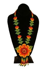 Exciting Original Big Flower Necklace Crystals Glass Beads Graceful Hot Design
