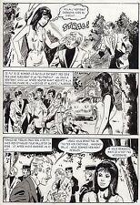 LA LOUVE ET LE PETIT CHIEN (RENAUD) PLANCHE ORIGINALE AREDIT PAGE 6