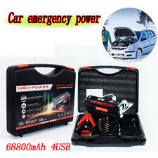 68800mAh Portable Jump Starter Pack Booster Battery Charger 4 USB Power Car Use