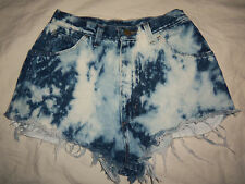 WRANGLER VTG USA M Bleach Denim Western High Waisted Cut Off Jeans Shorts W26