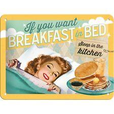 Nostalgic-Art Blechschild 15x20 cm Breakfast in Bed