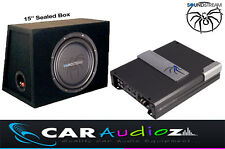 "SOUNDSTREAM pacchetto di qualità 15"" Subwoofer Scatola sigillata AMPLIFICATORE AFFARE CAR AUDIO"