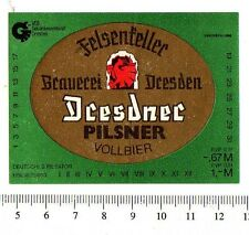 German Beer Label - Felsenkeller Brewery - Germany - Dresdner Pilsner