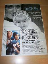 EIN SCHREI IN DER DUNKELHEIT - Kinoplakat A1 ´88 - Meryl Streep SAM NEILL