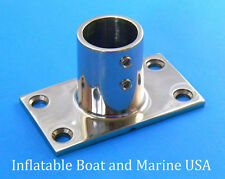 "Boat Hand Rail Fittings - 90 Degree 1"" Rectangular Base-Marine Stainless Steel"