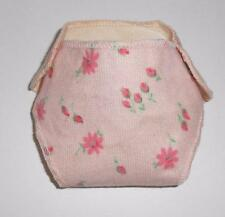 """OSS! MATTEL vintage 13"""" CHEERFUL TEARFUL flannel FLORAL print DIAPER excellent!"""