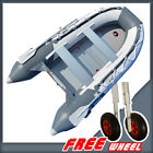 10.8 ft Inflatable Boat Dinghy Tender Pontoon Boat +Free Launching Wheels BSA330