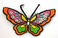 PRETTY BUTTERFLY MOTH  Embroidered Iron Sew On Cloth Patch Badge  APPLIQUE