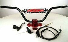 Tall Bar Kit handlebar RED Clamps Honda CRF50 XR50 CRF XR 50 Pit Bike PRO TAPER