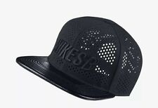 Nike SB Road Performance Black Skateboard Hat Leather Snapback Cap 804568-010