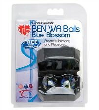 Tlc Cyberglass Ben Wa Balls Blue Blossom Kegal Exercise Vaginal Weights Kegel