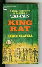 KING RAT by Clavell, rare US Crest reprint war WW2 POWs Japan pulp vintage pb