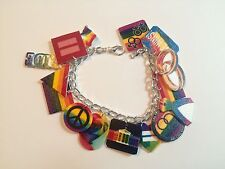 LGBT Marriage Equality Gay Pride Lesbian Trans Handmade Bracelet Plastic Charms