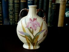 Late 19th/Early 20th c Art Nouveau Porcelain Flask Vase - Victoria of Carlsbad