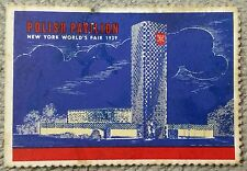 "1939 New York World's Fair ""Polish Pavilion"" Poster Stamp No. 15.  Poster stamp"