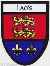 County Laois Ireland Irish Flag Bumper Sticker *
