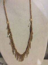 $52 Kenneth Cole Necklace FRINGE WORTHY two tone gold tone bead KC 416