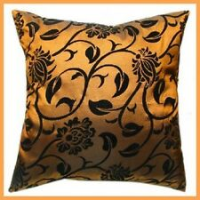 1 x taffeta cushion cover pillow case brown home house bed decor satin silk gift