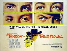 TENSION AT TABLE ROCK 1956 Richard Egan, Dorothy Malone US HALF SHEET POSTER