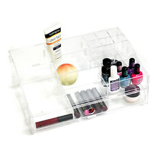 Acrylic Clear Large Potable Makeup Beauty Organizer Storage DIY Jewelry Box Case