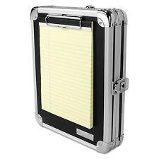 Vaultz Locking Storage Clipboard 2 x 9 3/4 x 12 3/4 Black VZ00151