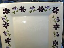 """NICHOLAS MOSSE POTTERY - SQUARE SERVING PLATE""""Clematis"""""""