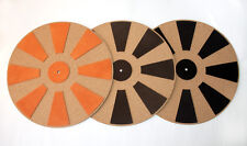 Genuine Leather +Cork Turntable Record Mat for Thorens,Garrard, Lenco, VPI, Avid