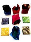 Moroccan Leather Folding Money Pouch Bag Coin Wallet in assorted Colors & Gold