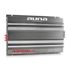 AUNA 4800W CAR STEREO AUDIO 6 CHANNEL AMPLIFIER SOUND SYSTEM LED MOUNT SILVER