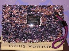 Louis Vuitton ROCOCO POCHETTE Monogram Sequin Wristlet XL Clutch $2k+ *LIMITED!*