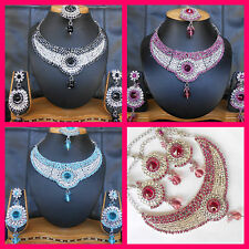 Wholesale Lot of 5 Bollywood necklace Indian Jewelry Fashion Statement Designer